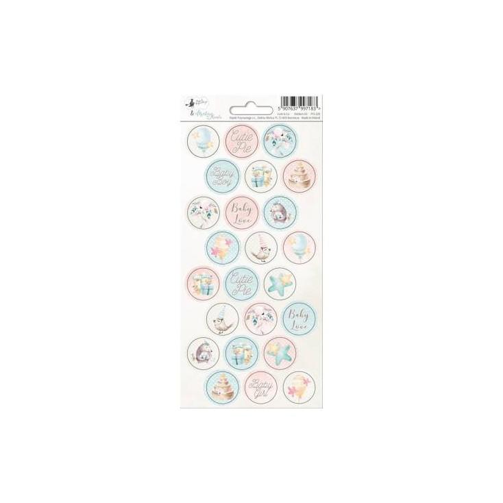 Scrapbooking sticker sheet - 10,5 x 23cm - Cute & Co. 03 - P13