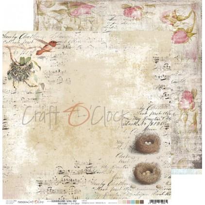 Scrapbooking papier 30x30cm - Hummingbird Song 02 - Craft O Clock