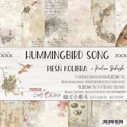 Scrapbooking papiery - bloczek 20 x 20 cm - Hummingbird Song - Craft O Clock