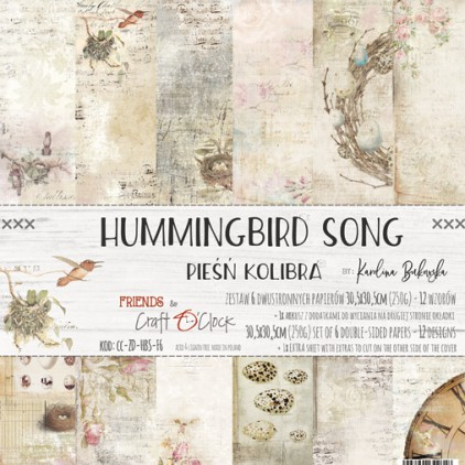 Scrapbooking papers - 30x30cm - Hummingbird Song - Craft O clock