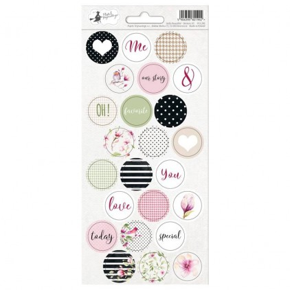 Scrapbooking sticker sheet - 10,5 x 23cm - Hello Beautiful 03 - P13
