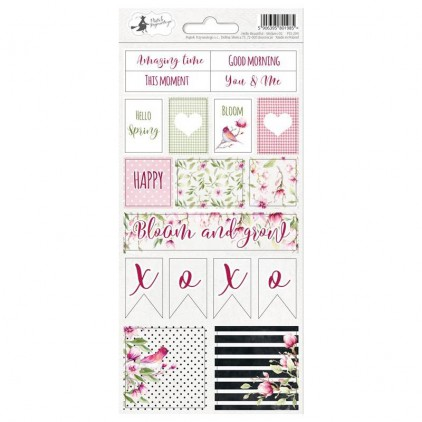 Scrapbooking sticker sheet - 10,5 x 23cm - Hello Beautiful 02 - P13