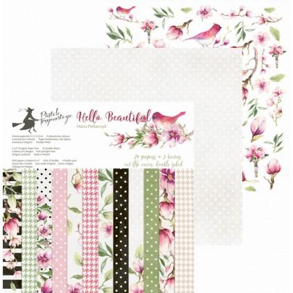Papiery do scrapbookingu 15x15cm -mały bloczek - Hello Beautiful - P13