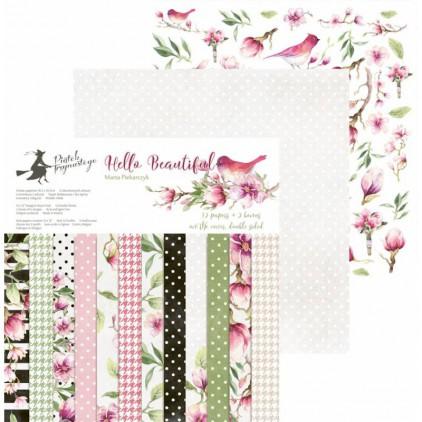 Papiery do scrapbookingu - zestaw 30x30cm - Hello Beautiful - P13