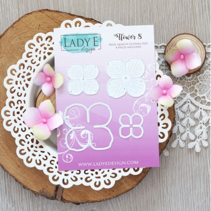 Set of die - Lady E Design - Flower 8
