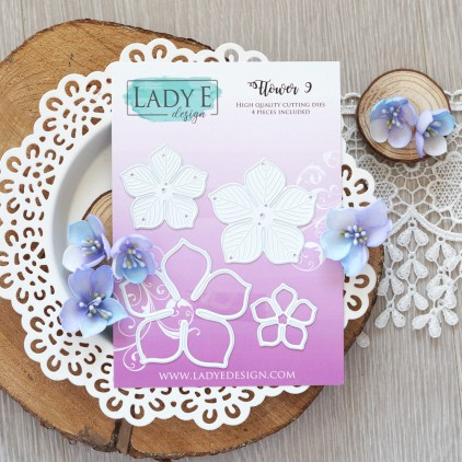 Set of die - Lady E Design - Flower 9