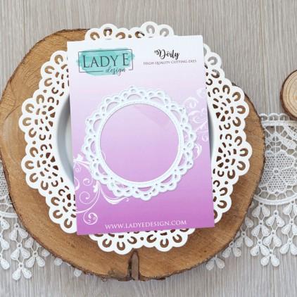 Scrapbooking - Wykrojniki do papieru - Serwetka - Lady E Design - Doily