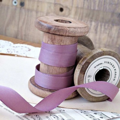Grosgrain ribbon, 1 meter - heather