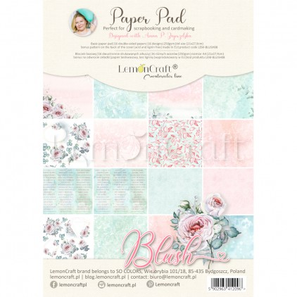 Blush - Bloczek papierów do scrapbookingu 21x29cm - Lemoncraft - LEM-BLUSH08 Basic