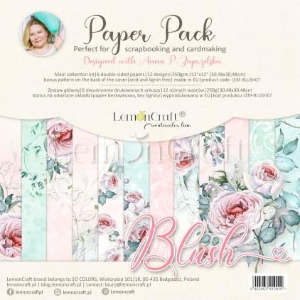 Blush - Set of scrapbooking papers 30x30cm - Lemoncraft