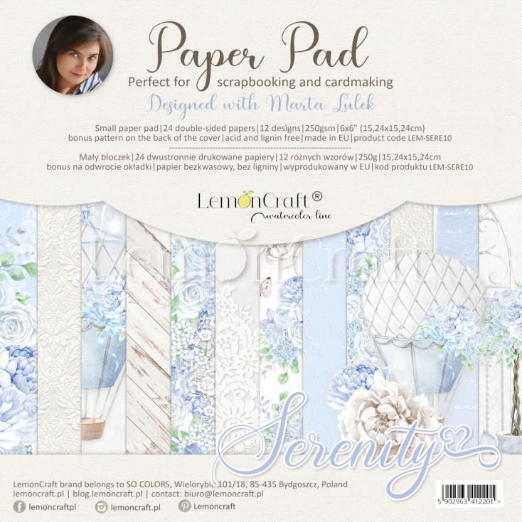 Serenity - Pad scrapbooking papers 15x15cm - Lemoncraft