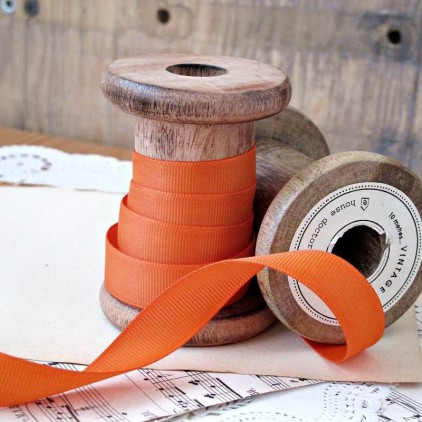 Grosgrain ribbon, 1 meter - orange