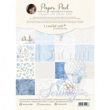 Serenity - Pad scrapbooking papers 21x29cm - Lemoncraft Basic