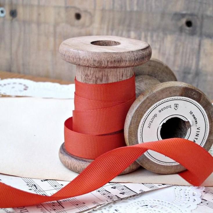 Grosgrain ribbon, 1 meter - brick orange