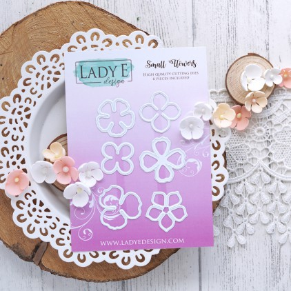 Scrapbooking - Wykrojniki do papieru - Kwiatuszki, zestaw - Lady E Design Small flowers set