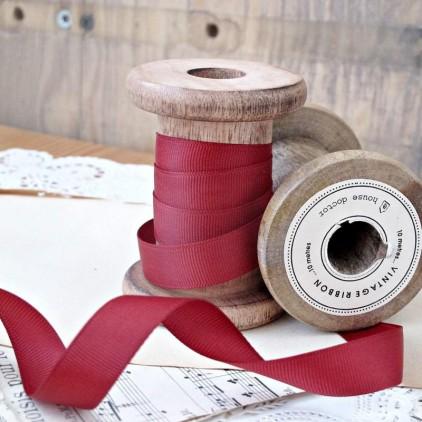 Grosgrain ribbon, 1 meter - brick red