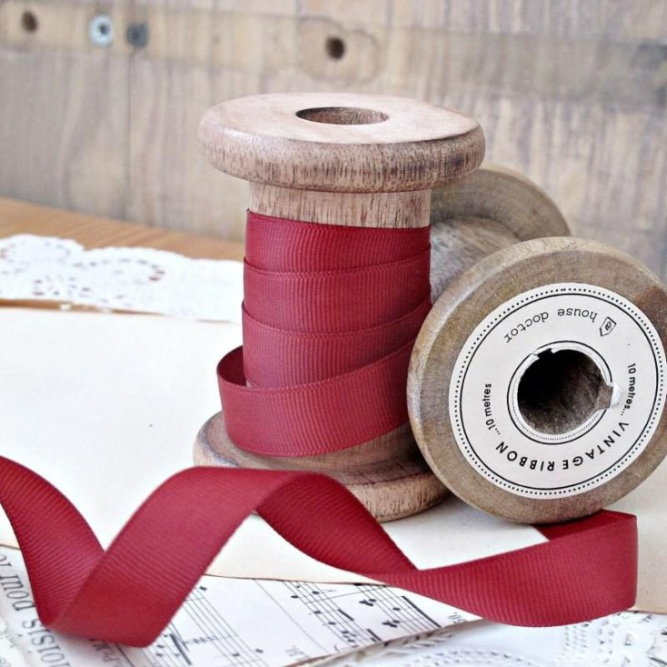 Grosgrain ribbon, 1 meter - brick red