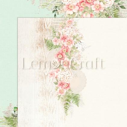 Raspberry Garden 06 - Dwustronny papier do scrapbookingu - Lemoncraft - LEM-RASGA06