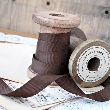 Grosgrain ribbon, 1 meter - dark chocolate