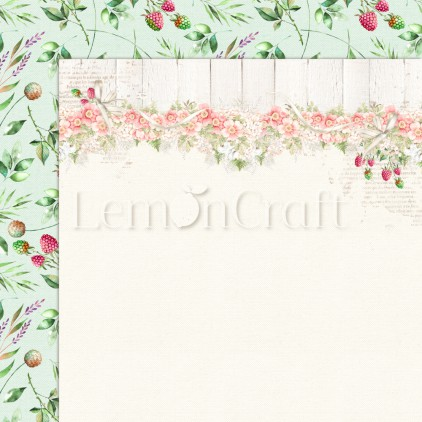 Raspberry Garden 04 - Double-sided scrapbooking paper - Lemoncraft - LEM-RASGA04