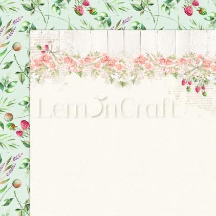 Raspberry Garden 04 - Dwustronny papier do scrapbookingu - Lemoncraft - LEM-RASGA04