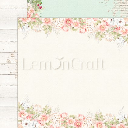 Raspberry Garden 02 - Dwustronny papier do scrapbookingu - Lemoncraft - LEM-RASGA02