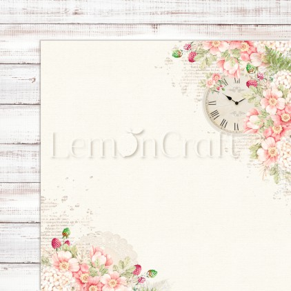 Raspberry Garden 01 - Dwustronny papier do scrapbookingu - Lemoncraft - LEM-RASGA01