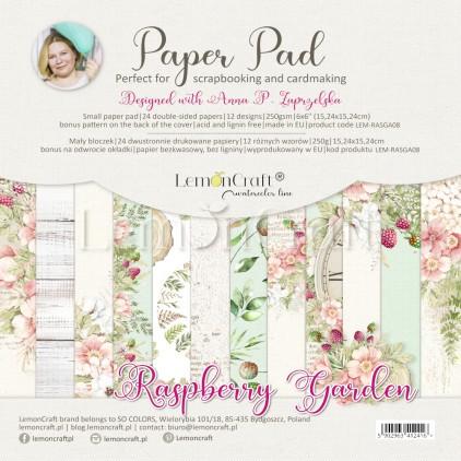 Raspberry Garden - Bloczek papierów do scrapbookingu 15x15cm - Lemoncraft - LEM-RASGA09