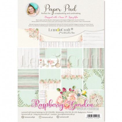 Raspberry Garden Album edition - Pad scrapbooking papers 21x29cm - Lemoncraft - LEM-RASGA08