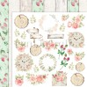 Raspberry Garden - Set of scrapbooking papers 30x30cm - Lemoncraft - LEM-RASGA07