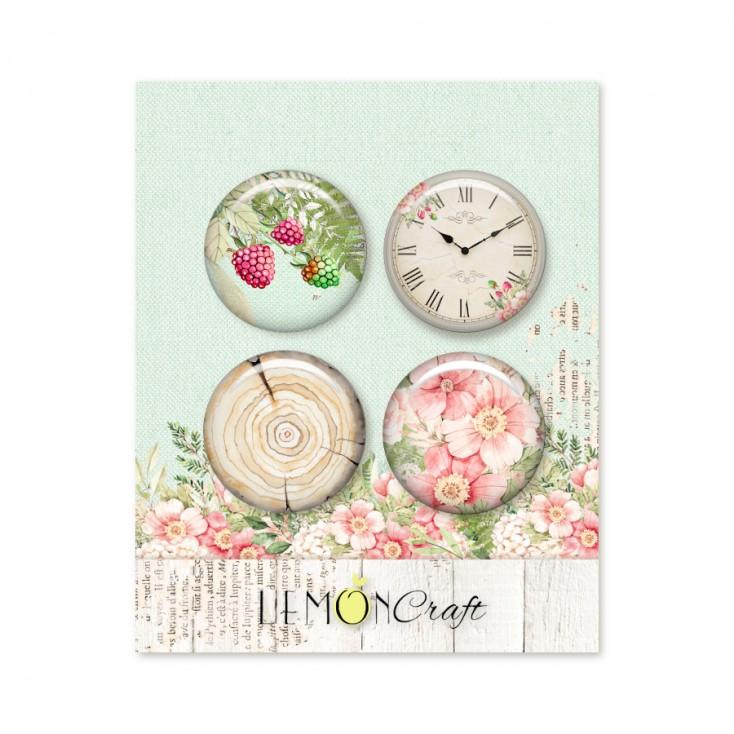 Raspberry Garden - Buttons / badge - Lemoncraft - LEM-RASGA10