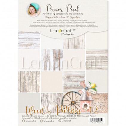 Wood Patterns 02 - Pad scrapbooking papers 21x29cm - Lemoncraft - LEM-WOODPA02