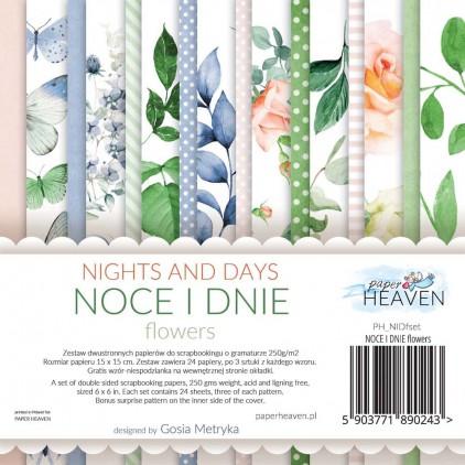 Mały bloczek z elementami do wycinania - Paper Heaven - Noce i Dnie-FLOWERS