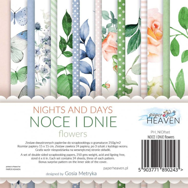 Scrapbooking paper pad - Paper Heaven - Nights and Days_FLOWERS