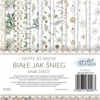 Mały bloczek - Paper Heaven - Białe jak Śnieg