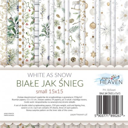 Scrapbooking paper pad - Paper Heaven - White as Snow