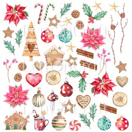 Papier z elementami do wycinania - Lemoncraft - This Christmas 09 - LEM-TSCHR09
