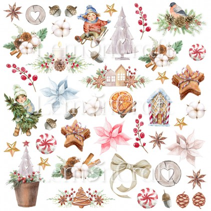 Paper with elements for cutting out - Lemoncraft - This Christmas 07 - LEM-TSCHR07