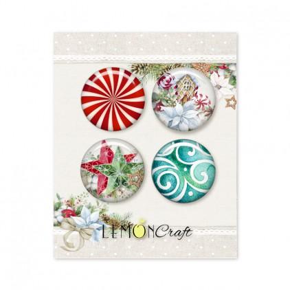 Zestaw samoprzylepnych ozdób / buttonów - This Christmas - Lemoncraft - LEM-TSCHR12