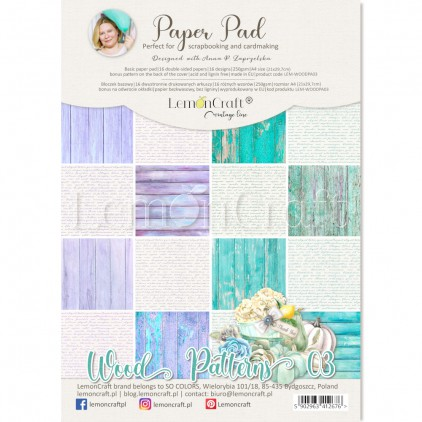 Wood Patterns 03 - Pad scrapbooking papers 21x29cm - Lemoncraft - LEM-WOODPA03