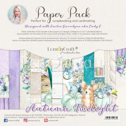 Set of scrapbooking papers 30x30cm - Autumn Twilight - Lemoncraft - LEM-ATWIL07