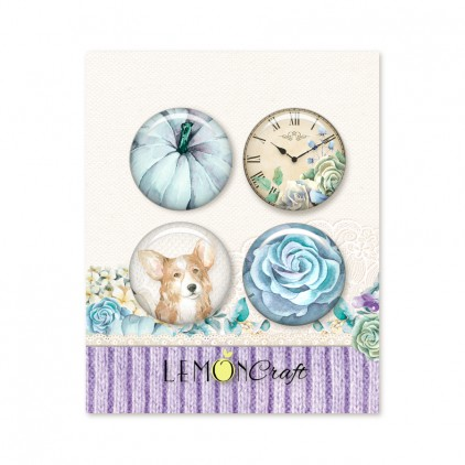 Buttons / badge - Autumn Twilight - Lemoncraft - LEM-ATWIL09