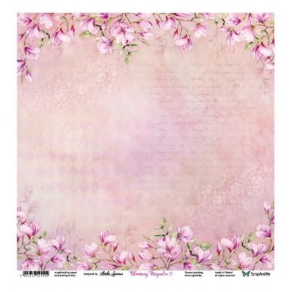 Blooming Magnolia 11/12 - Scrapbooking paper 30 x 30 cm - ScrapAndMe