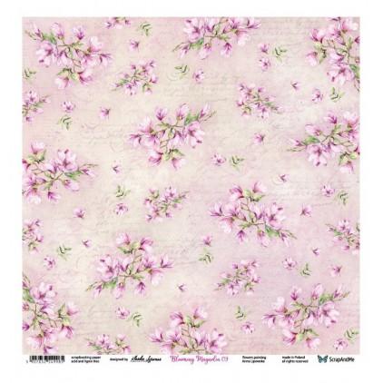 Blooming Magnolia 09/10 - Scrapbooking paper 30 x 30 cm - ScrapAndMe