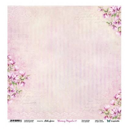 Blooming Magnolia 07/08 - Scrapbooking paper 30 x 30 cm - ScrapAndMe