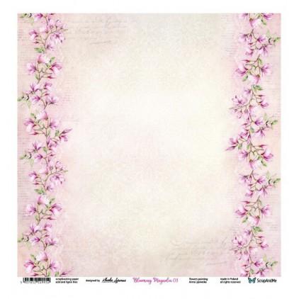 Blooming Magnolia 03/04 - Scrapbooking paper 30 x 30 cm - ScrapAndMe