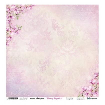 Blooming Magnolia 01/02 - Scrapbooking paper 30 x 30 cm - ScrapAndMe