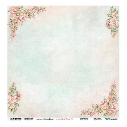 Amidst the Roses 09/10 - Scrapbooking paper 30 x 30 cm - ScrapAndMe