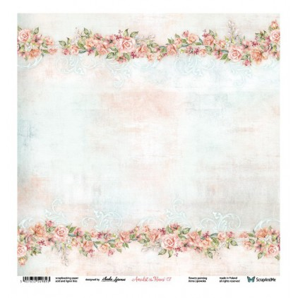 Amidst the Roses 07/08 - Scrapbooking paper 30 x 30 cm - ScrapAndMe