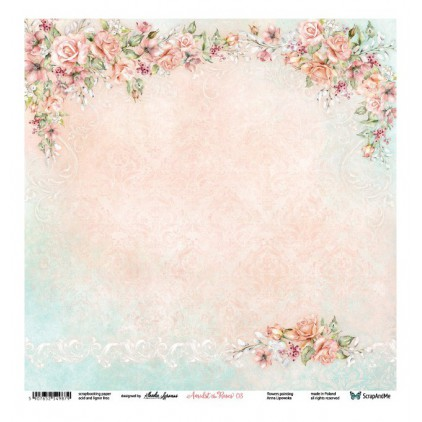 Amidst the Roses 03/04 - Scrapbooking paper 30 x 30 cm - ScrapAndMe